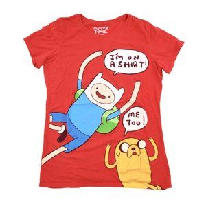 Mighty Fine Shirt Womens Large Red Adventure Time